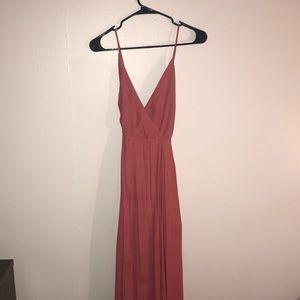 Salmon Maxi Dress